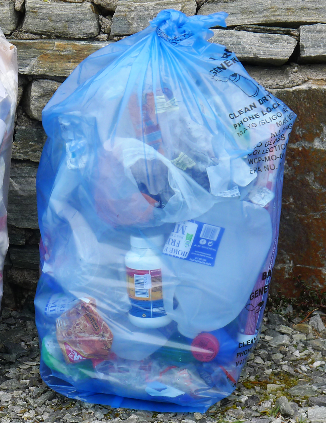Plastic bag for you - Recyclable Waste In The Form Of Dry Paper Cardboard Steel Cans And Plastic Go Into Blue Bags Again Buy These In Local Shops For 3 See There S A Big